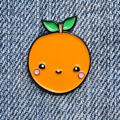 Kawaii Orange Lapel Pin