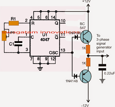 4047 3 phase Inverter Circuit