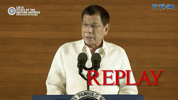 [Full Replay] Watch President Rodrigo Duterte's First SONA