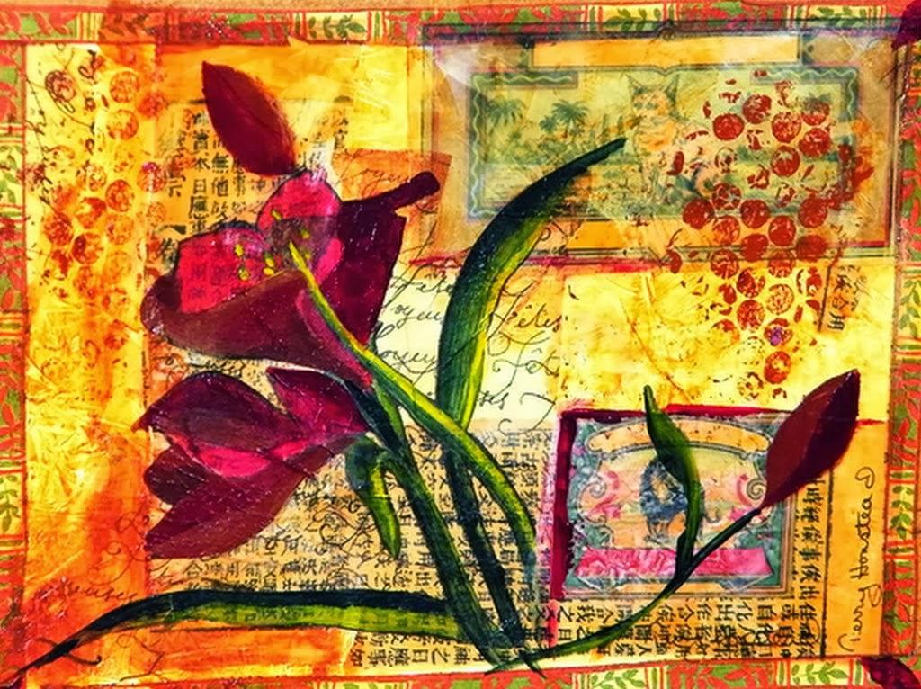 preciosos cuadros modernos y decorativos de flores pintura al leo