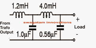 inverter output LC filter circuit calculations