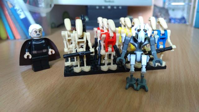 Генерал Гривус, граф Дуку и боевые дроиды B1 и серия OOM фигурки лего купить