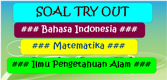 Soal Try Out SD/MI Tahun 2018