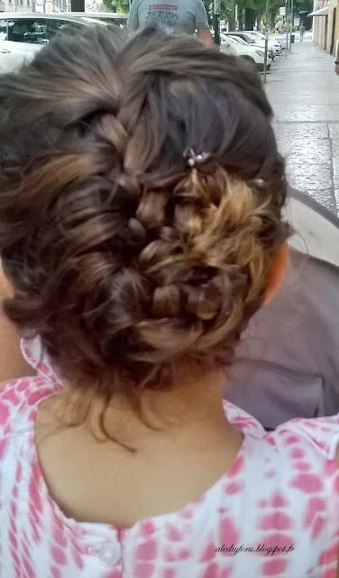 coiffure simple petite fille