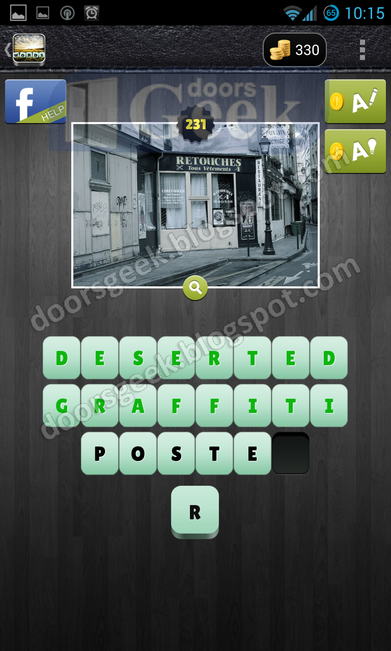 level 231 whats the word