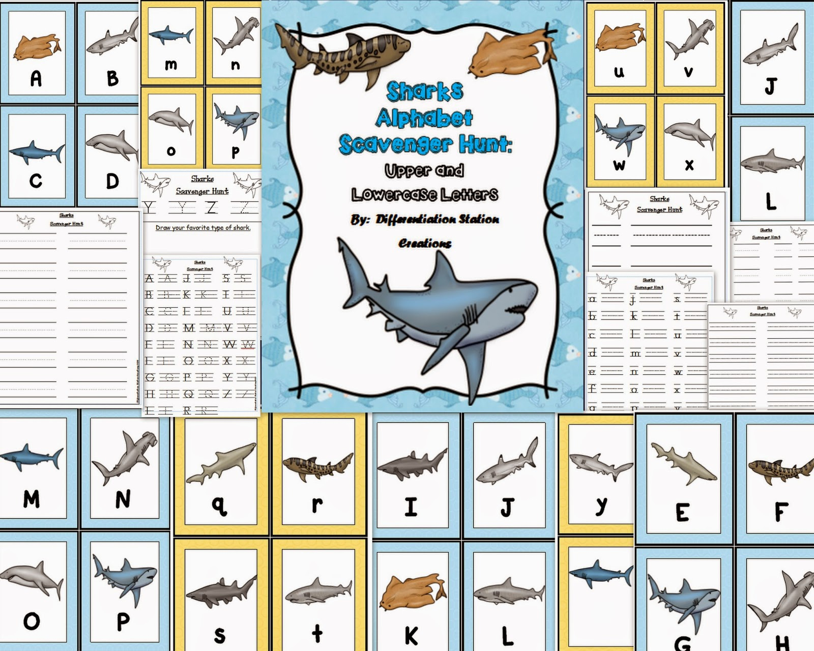 Differentiation Station Creations Wild About Sharks Freebie
