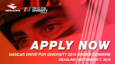 Application Deadline Approaches For 2018 NASCAR Drive For Diversity Driver Combine
