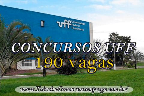 UFF oferece efetivo de 190 vagas para Concurso Público