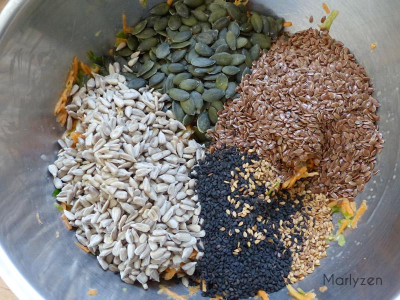 Ajoutez les graines.