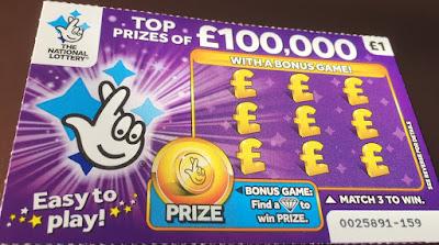 £1 Purple National Lottery Scratch Card