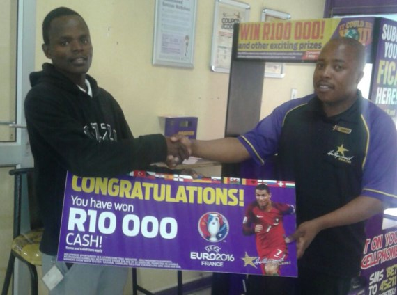 1st prize Euro 2016 Mobile winner - Michael Mkwanazi - Empangeni - R10,000 cash - Hollywoodbets