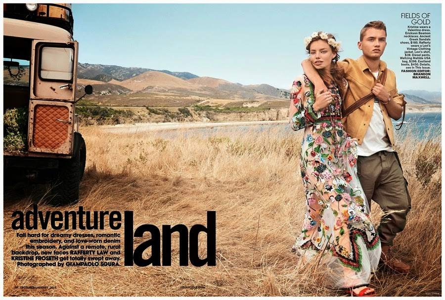 JUDE LAW'S SON RAFFERTY APPEARS IN OUTDOORS TEEN VOGUE 2015 SHOOT