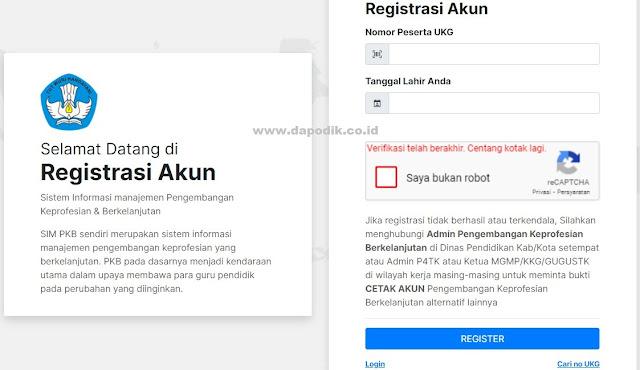 Cara Registrasi Akun GTK SIM PKB Di Portal Layanan Program GTK Kemendikbud Bagi Yang Beru Menjadi Guru