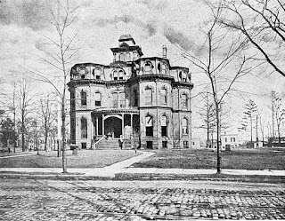 The original Battin High School building, Elizabeth, NJ. In use from 1889 to 1913.