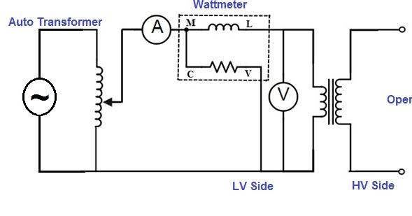 circuit diagram of transformer on no load