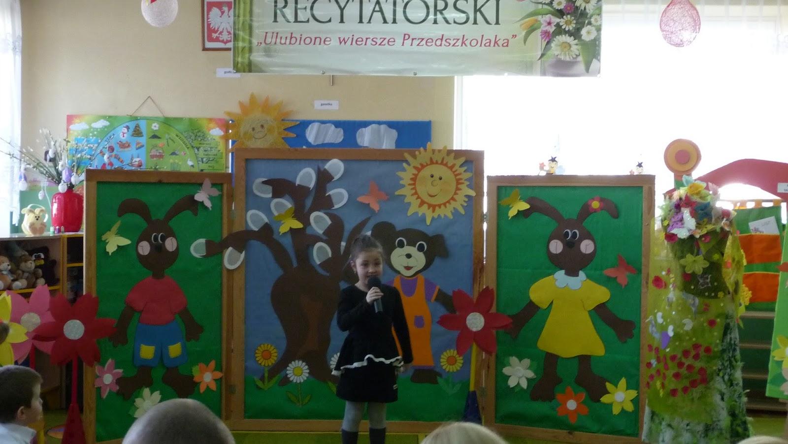 Przedszkole W Jedynce Motylek Na Konkursie Recytatorskim