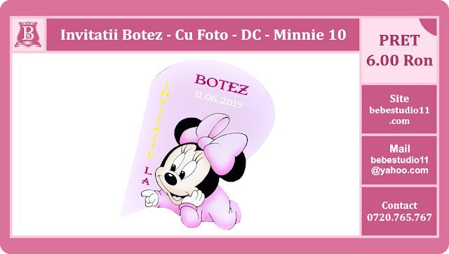 invitatii botez minnie mouse