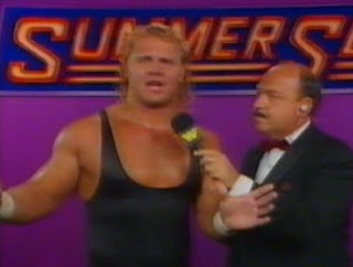 WWF / WWE Summerslam 1989 - Mr. Perfect delivers a post-match promo after beating The Red Rooster