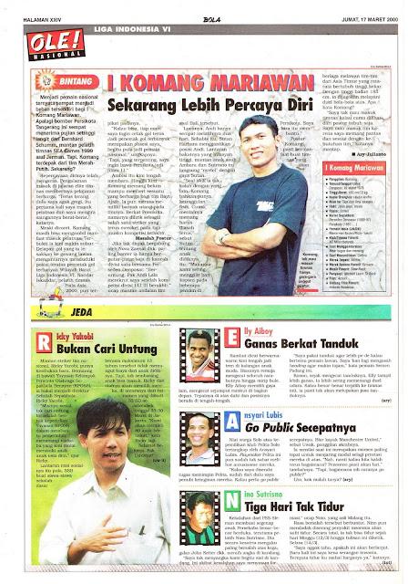 LIGA INDONESIA VI PROFIL BINTANG I KOMANG MARIAWAN