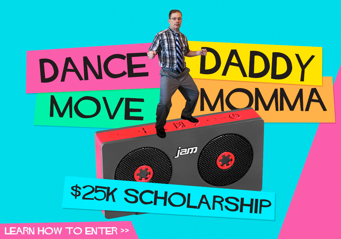 Enter the Jam Audio™ Dance Daddy, Move Mama Contest.
