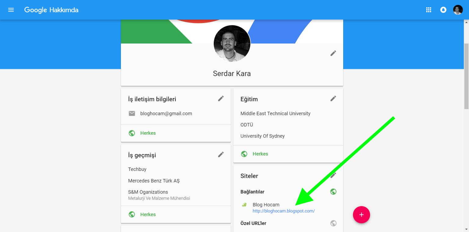 Google+ backlink
