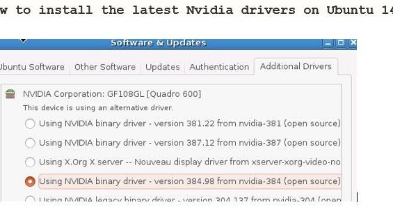 Install the latest Nvidia driver on Ubuntu 14 04