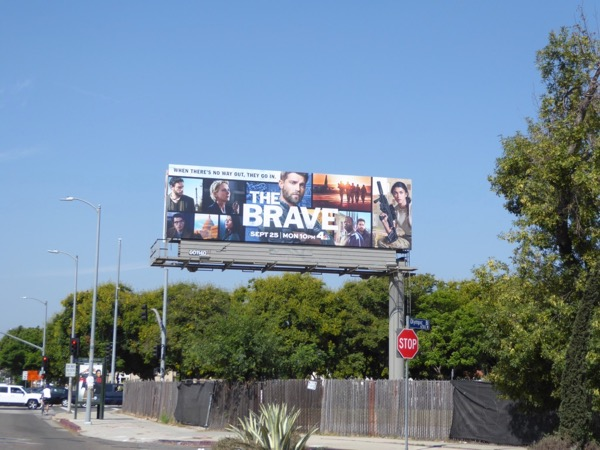 Brave NBC series billboard