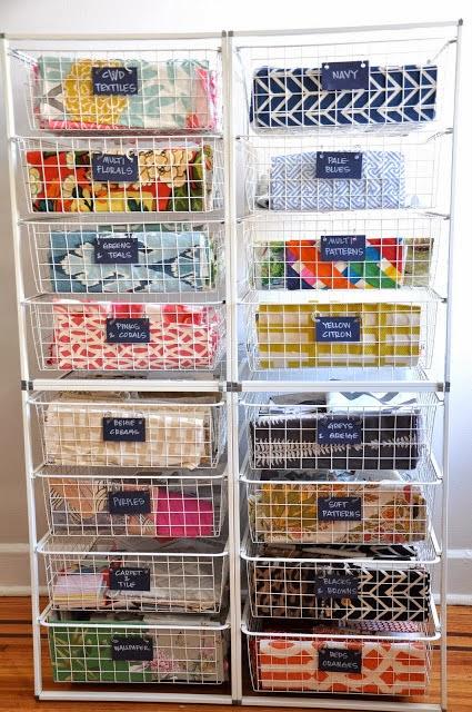 Organized fabric storage