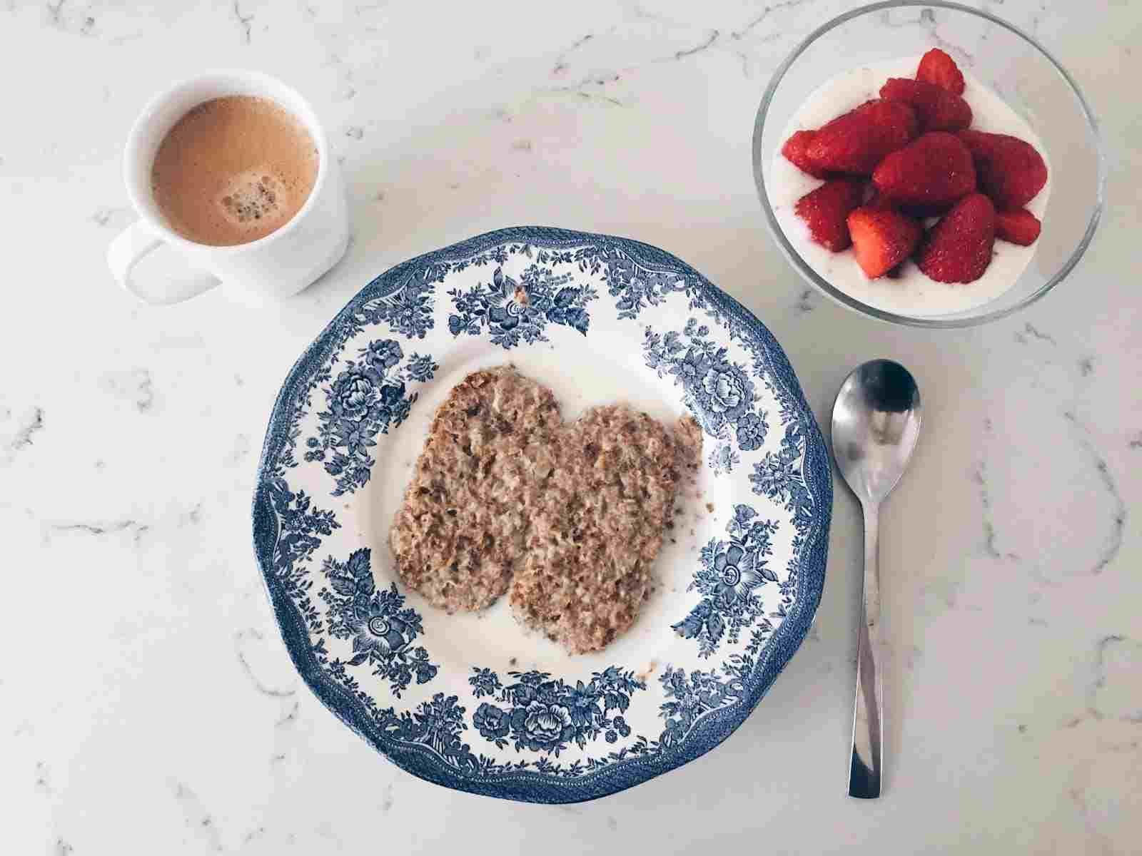 Weetabix and fruit strawberries