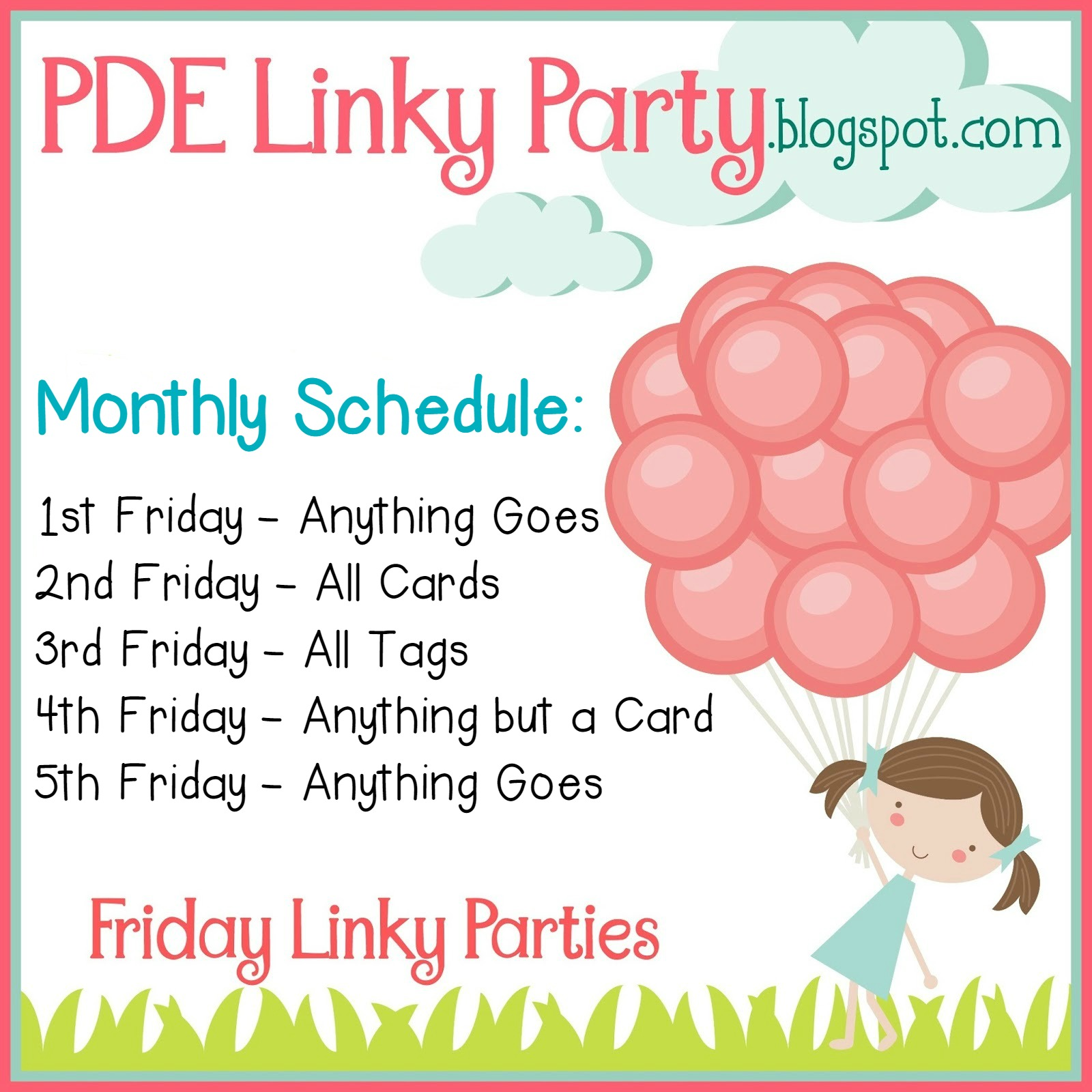 PDE Linky Party Schedule