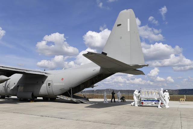 Vigorous Warrios 2019: l'Aeronautica Militare si addestra al trasporto in bio-contenimento