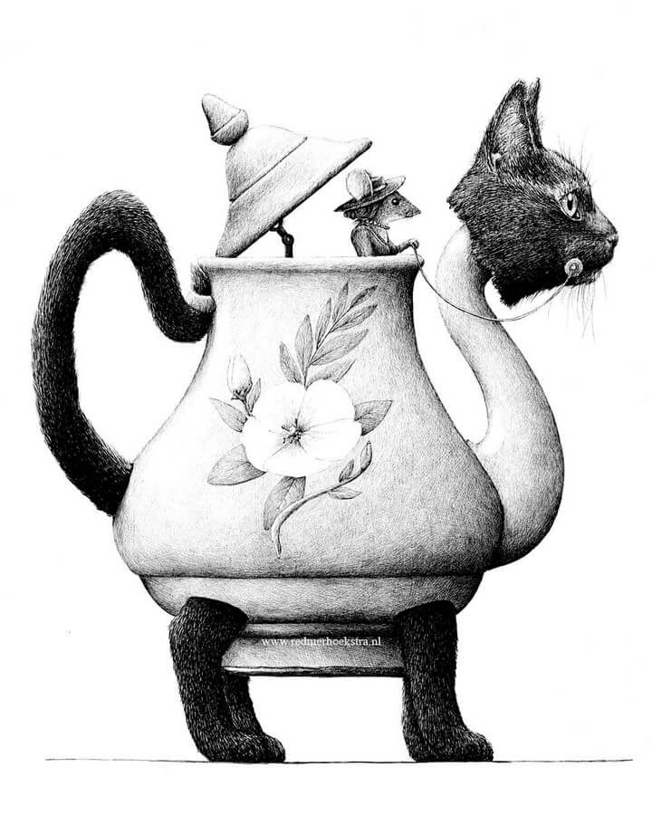 07-Mouse-and-Cat-Redmer-Hoekstra-Surrealism-www-designstack-co