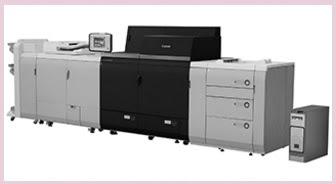Printer Canon imagePRESS C10000VP dengan kecepatan cetak 100 halaman per menit