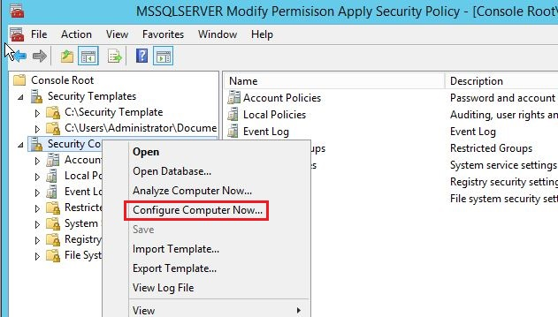 fig 22 apply security settings