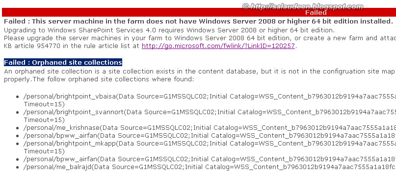 remove Orphaned site collections in SharePoint