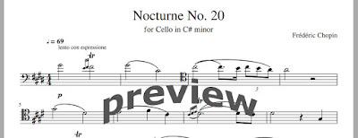 Hauser - Nocturne in C Sharp Minor sheet music for Cello (Pdf)