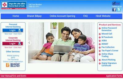 Central Bank of India Online Internet Banking,cbi-net-banking