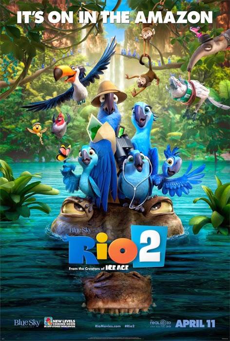 Poster oficial pentru animaţia Rio 2