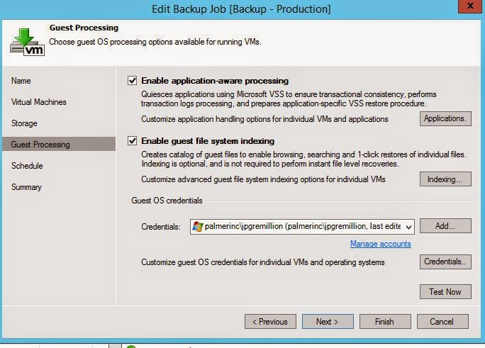 Joe's storage view for Veeam Backup and Replication targets