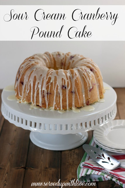 Served Up With Love Sour Cream Cranberry Pound Cake