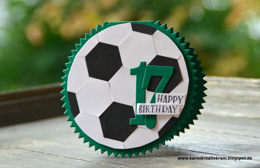 Karos Kreativkram Fussballkarte Zum 17 Ten Geburtstag