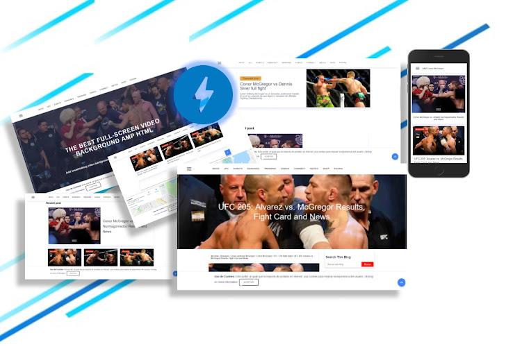 AMP Conor McGregor Plantilla de Blogger en AMP html