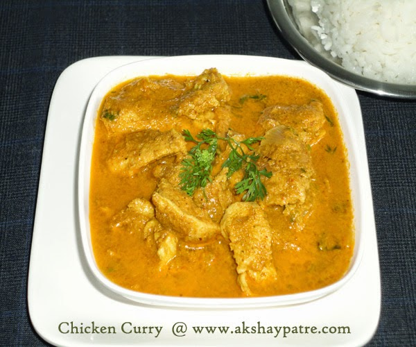 chicken curry ready to serve