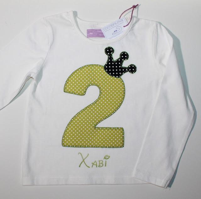 camiseta de cumpleaños 2 años