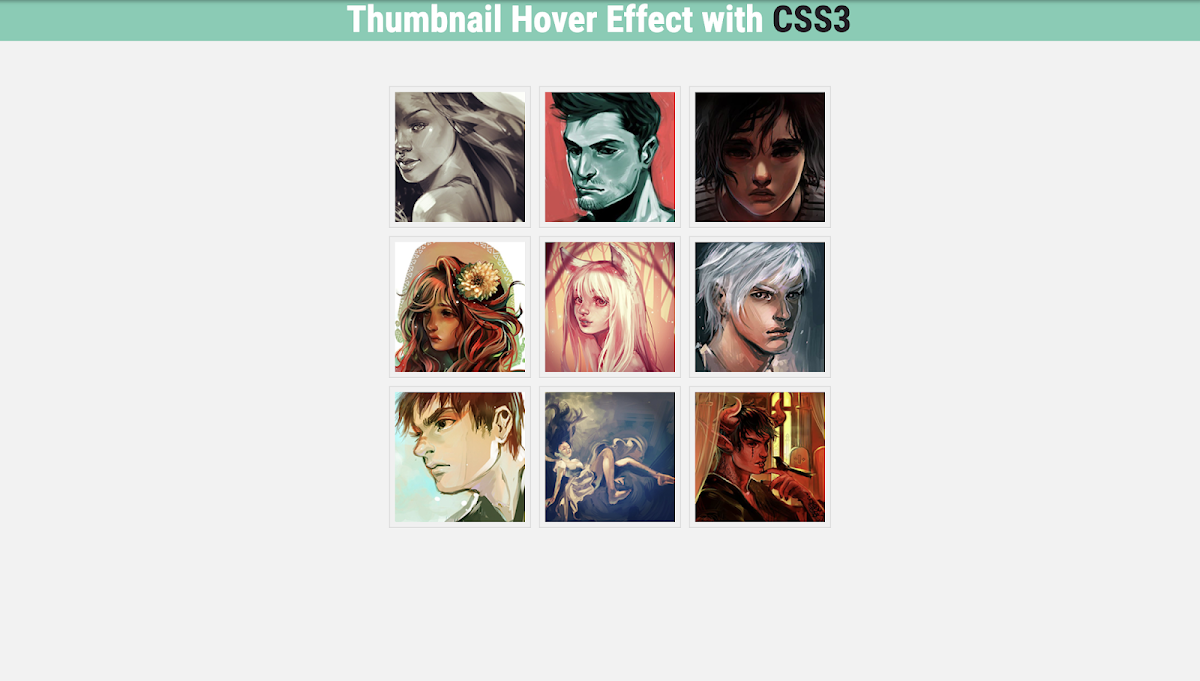 Pure CSS Thumbnail Hover Effect