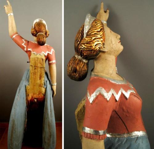 Μία όμορφη θαλασσοπόρος στο τμήμα συντήρησης έργων τέχνης του Μουσείου Μπενάκη
