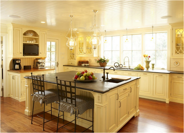 butter yellow kitchen cabinets 30 colorful kitchens the cottage market 5005