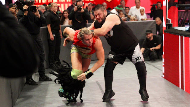 WWE Raw Kevin Owens attacked Tyler Breeze