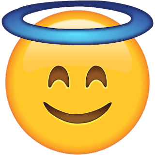 WhatsApp Smiling Face with Halo