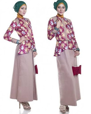 model baju batik modern hijab modis
